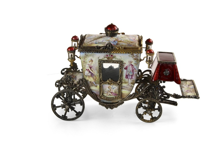Viennese Enamel cinderella Carraige