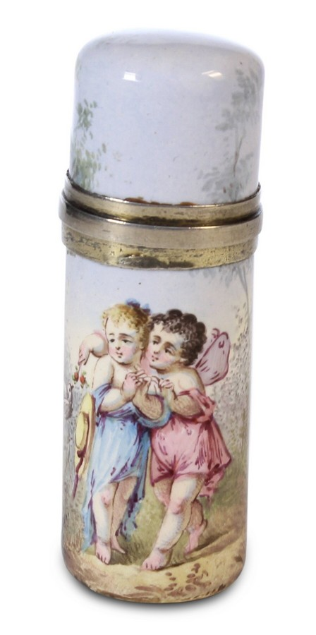 French Enamel Perfume Bottle