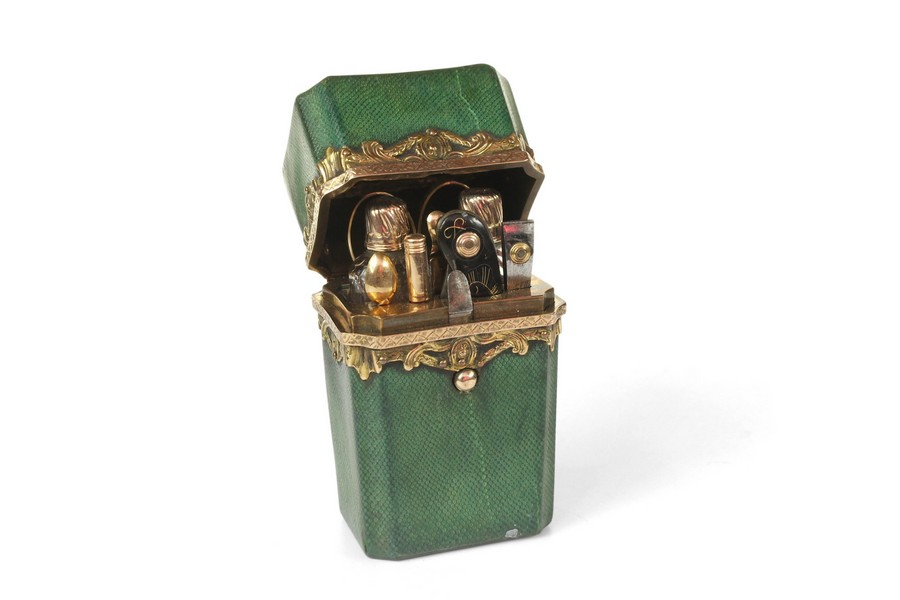 Gold and Shagreen Perfume Necessaire