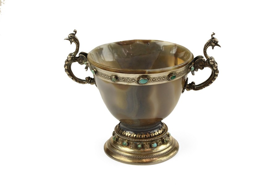 Silver and Agate Cup