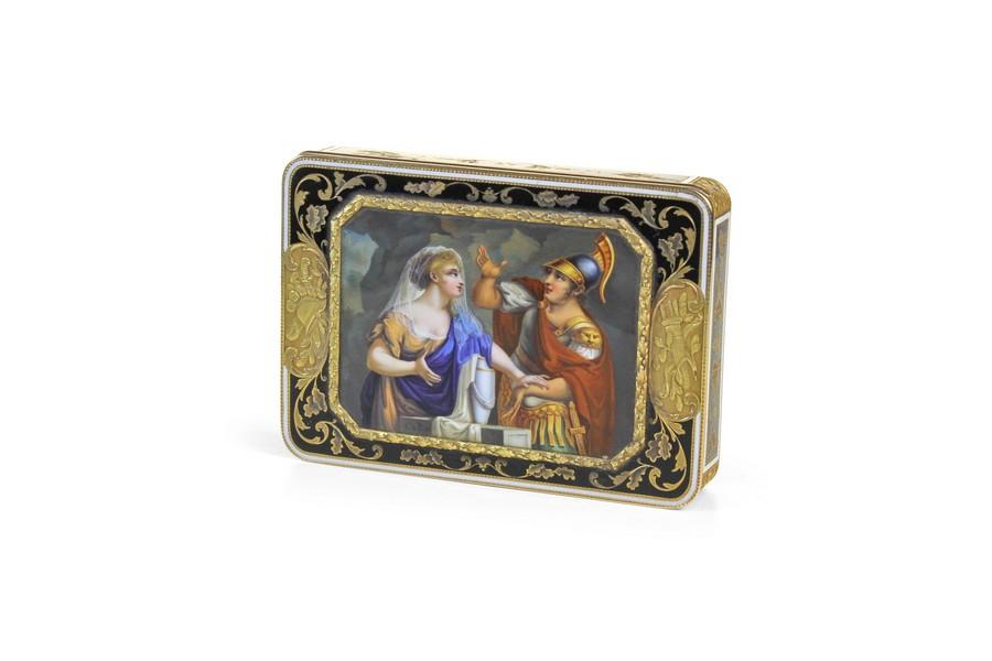Swiss Gold and Enamel Box