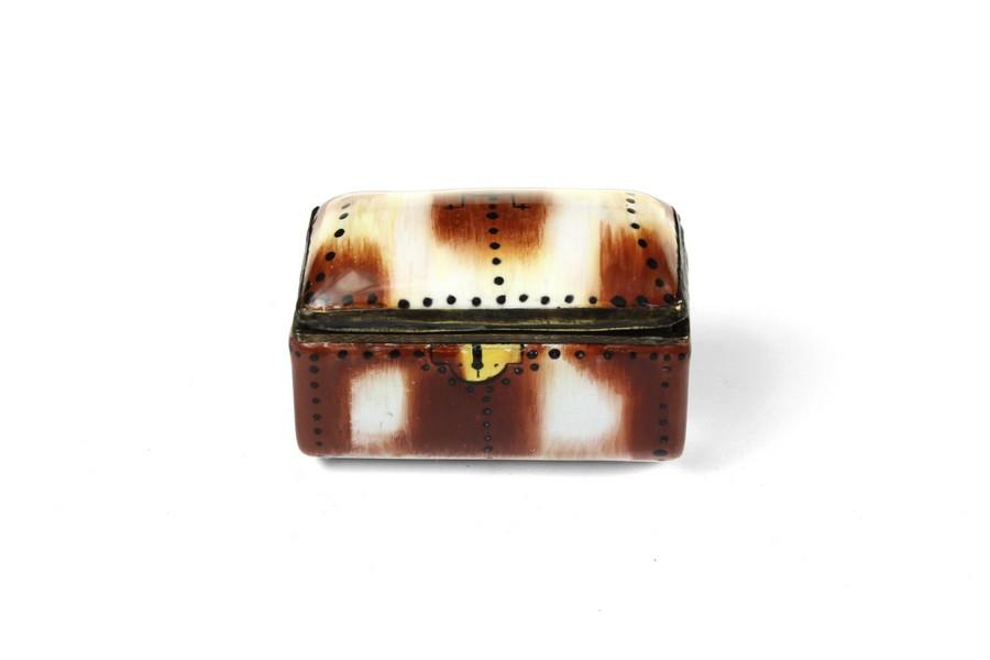 Bilston Enamel Trunk Box