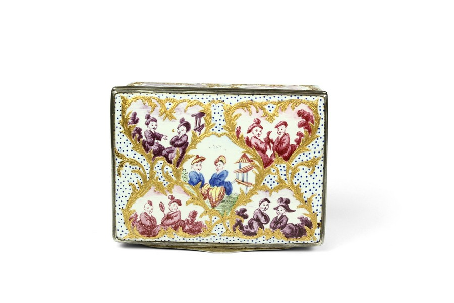Berlin Silver Mounted Enamel Snuff Box