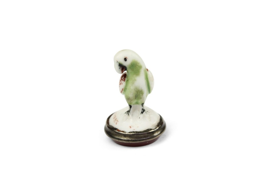 Chelsea Porcelain Seal of a Parrot