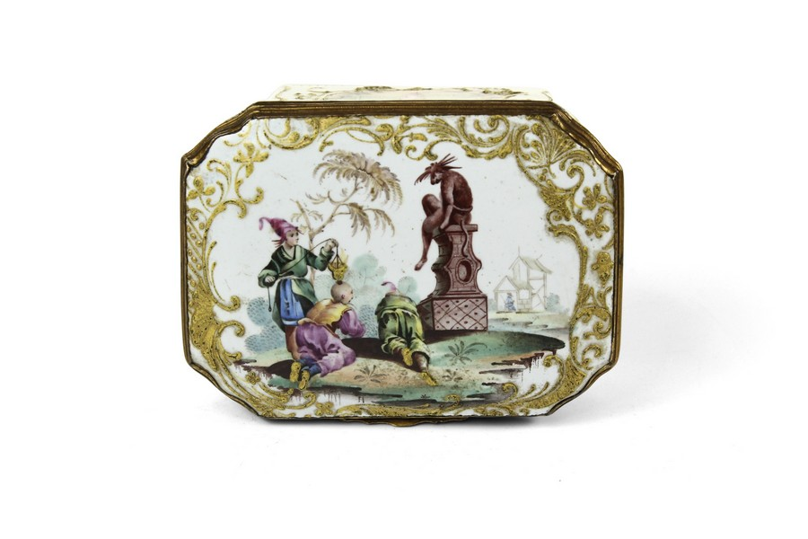 An Important Bilston Pillement Snuff Box