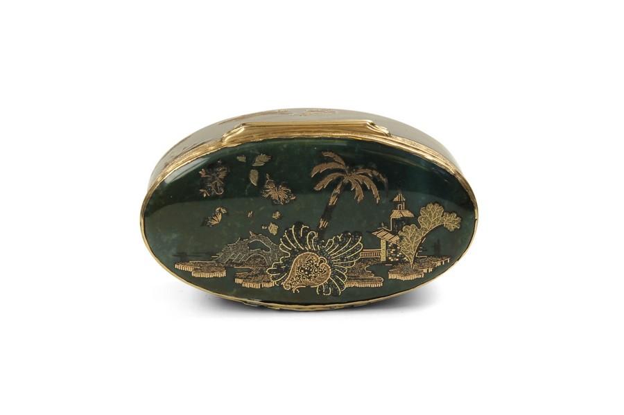 18th Century Dresden Gold & Hardstone Box