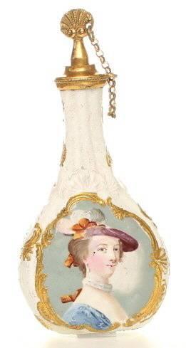 Bilston Enamel Scent Flask