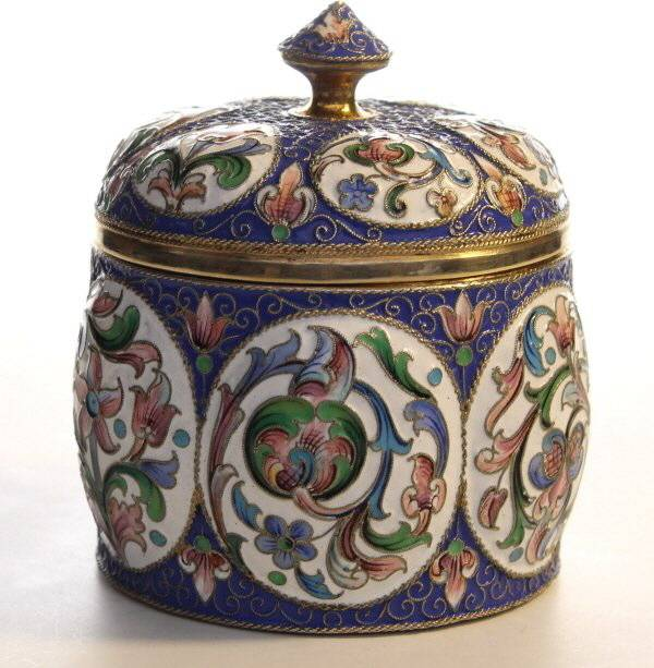 Russian Enamel Pot and Cover by klingert