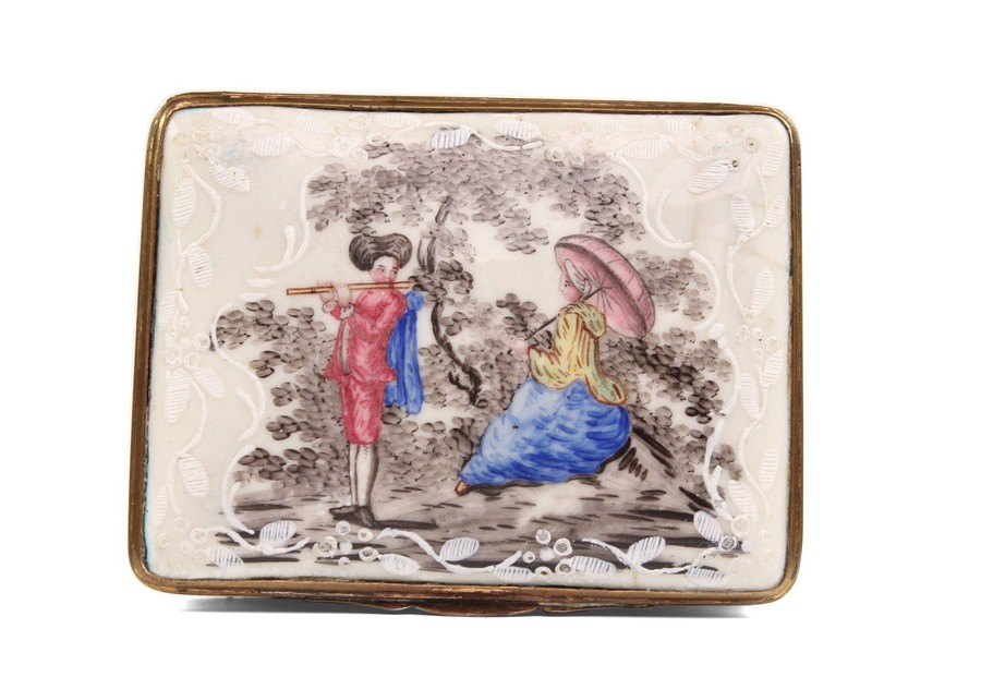 A German enamel snuff box