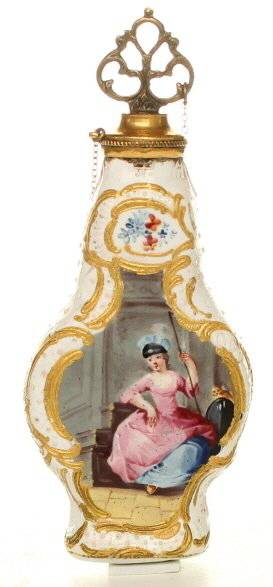 Enamel scent bottle