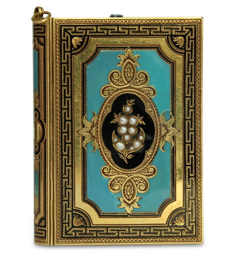 French gold and enamel carne de balle