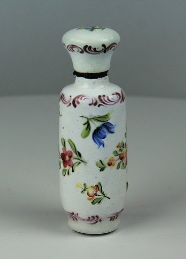 French enamel scent flask