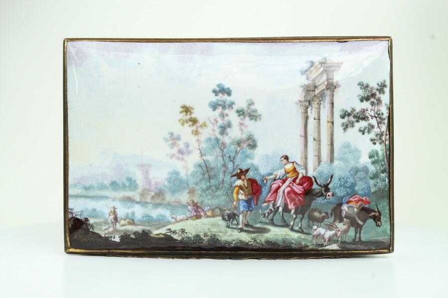 Magnificent Enamel Casket  c1755-60
