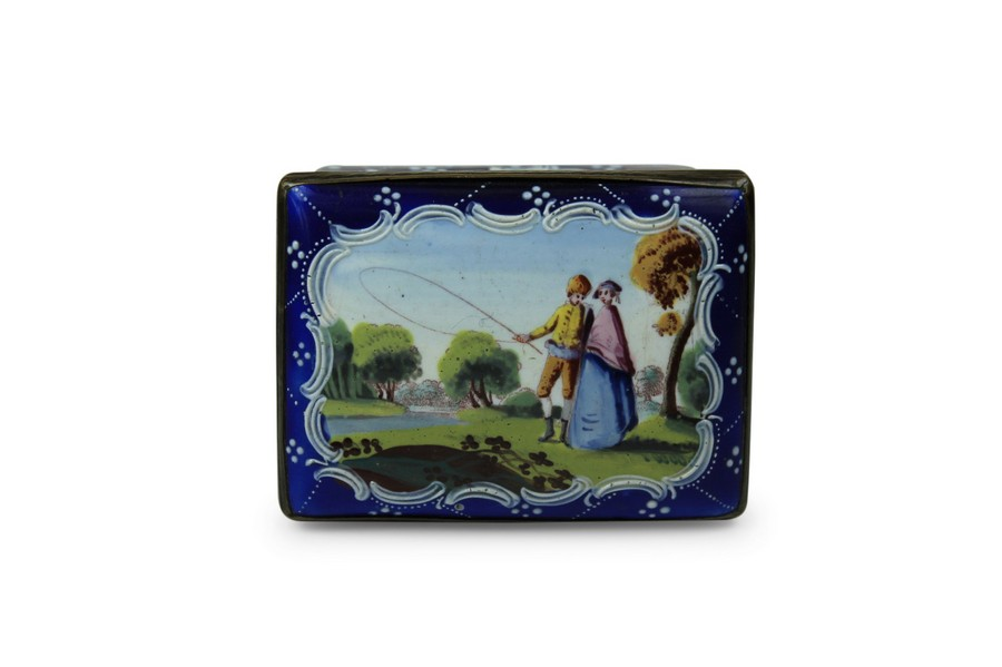 A south Staffordshire enamel Snuff box