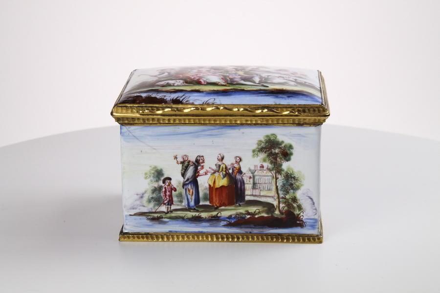 A Fine Bilston Enamel Table Box