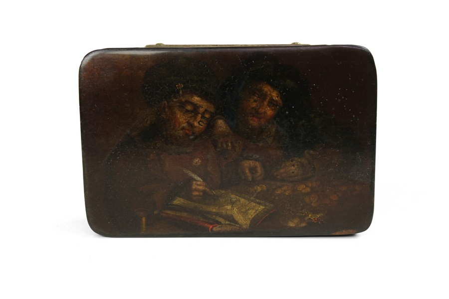 Stobwasser snuff box  The Misers