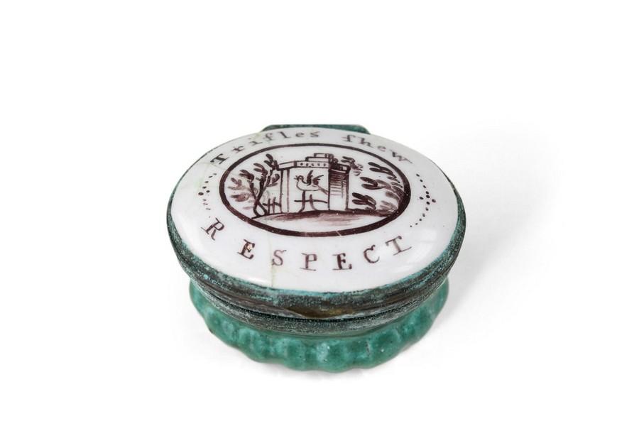 "Bilston Patch Box ""Trifles thew Respect"""