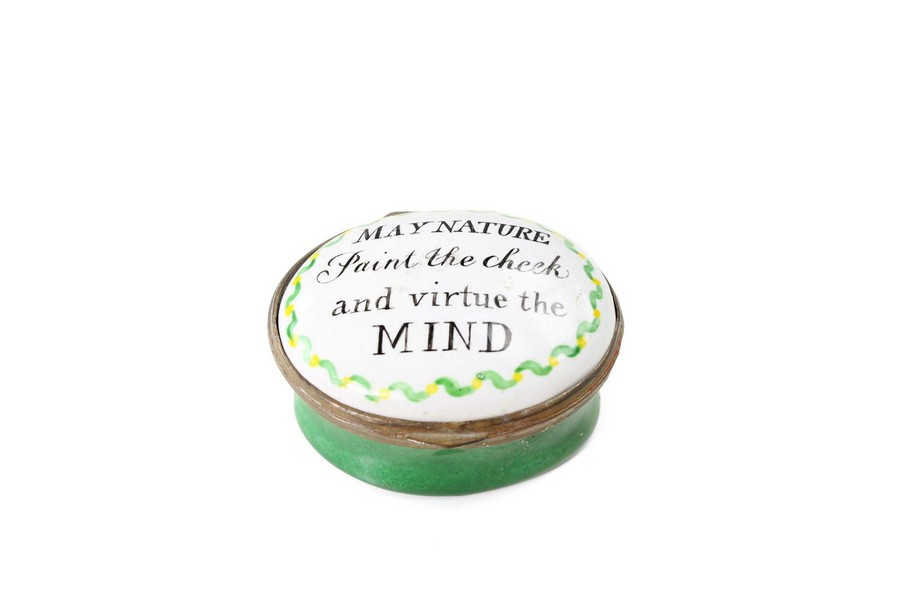 """Bilston Patch box """"May nature paint the cheek and virtue the mind"""""""