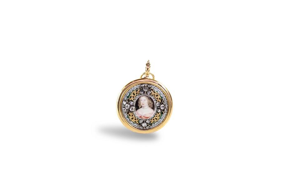 17th Century Diamond and Enamel Miniature