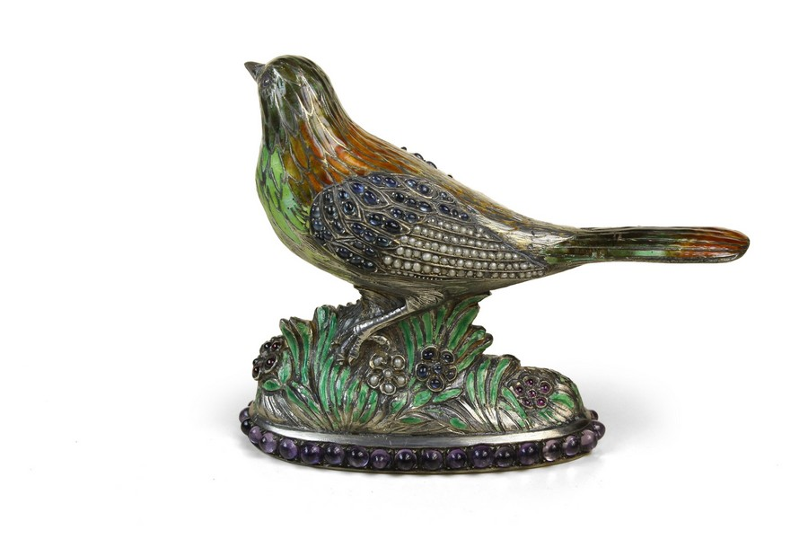 A Pretty  Enamelled and Jewelled  Bird