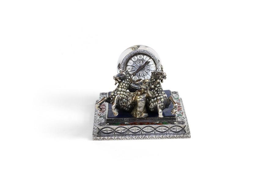 Vienna Rock Crystal Snail Clock movment by Anton Hiebner