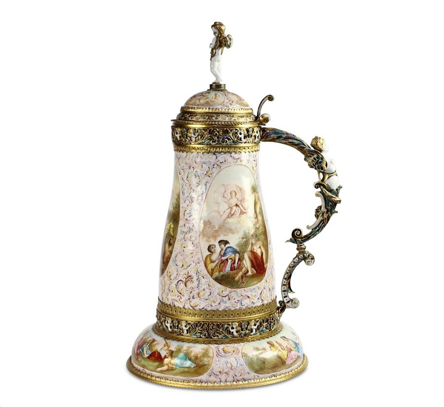Silver gilt and Enamel Tankard