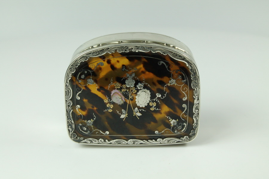 Silver and Tortoise shell box