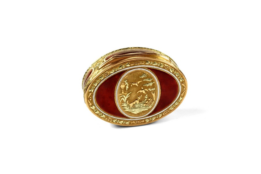 French Gold and Enamel Snuff Box
